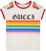 Gucci Children's cotton t-shirt with rainbow print