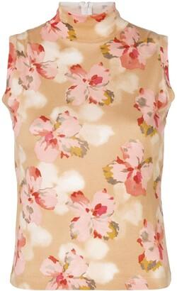 Christian Dior Pre-Owned Floral Turtleneck Vest
