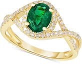 Macy's Emerald (1-1/10 ct. t.w.) & Diamond (1/3 ct. t.w.) Ring in 14k Gold