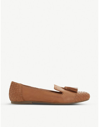 Dune Gilson woven leather loafers