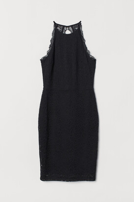 H&M Lace Halterneck Dress