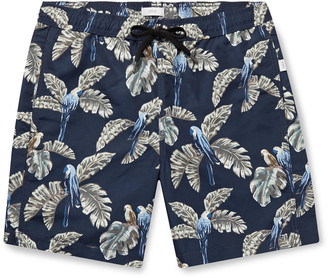 Onia Charles Long-Length Printed Swim Shorts