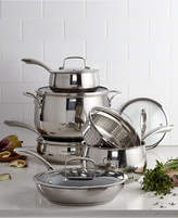 Belgique Stainless Steel 11-Pc. Cookware Set with Nonstick Saute Pan & Fry Pan, Created for Macy's