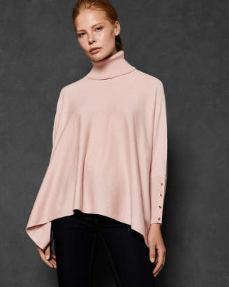 Ted Baker RALLPHY Ribbed trim poncho jumper