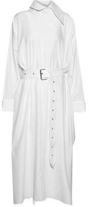 Marques Almeida Marques' Almeida Oversized Belted Cotton-twill Midi Dress