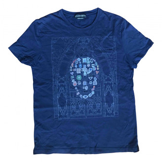 Alexander McQueen Navy Cotton T-shirts
