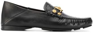 Versace Medusa plaque loafers