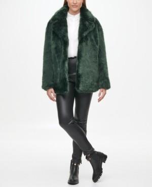 Karl Lagerfeld Paris Women's Faux Fur Coat