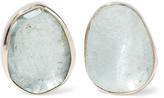 Melissa Joy Manning 14-karat Gold Aquamarine Earrings - one size