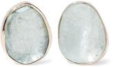 Melissa Joy Manning 14-karat Gold Aquamarine Earrings