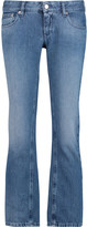 MM6 MAISON MARGIELA Cropped low-rise straight-leg jeans