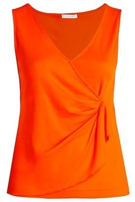 Joan Vass, Plus Size Draped Sleeveless Top