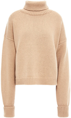 Maison Margiela Cropped Wool And Cashmere-blend Turtleneck Sweater