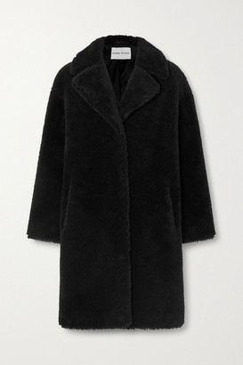 Stand Studio Camille Cocoon Oversized Faux Shearling Coat - Black