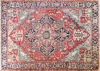 """One Kings Lane Vintage Antique Persian Heriz Rug - 9' x 12'8"""" - Eli Peer Oriental Rugs - multi/brick red"""