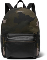 Tomas Maier Leather-trimmed Camouflage-print Canvas Backpack - Green