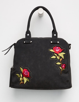VIOLET RAY Logan Embroidered Satchel Bag