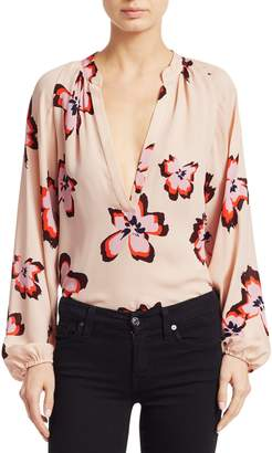A.L.C. Jules Floral Long Sleeve Blouse