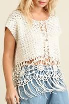 Umgee USA Crochet Knit Top