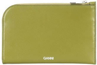 Ganni Curved Zipped Wallet