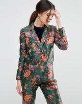 Asos Floral Vintage Jacquard Blazer