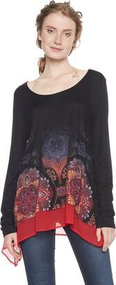 Desigual Women's Ts_olga T-Shirt Black (Negro 2000) Large