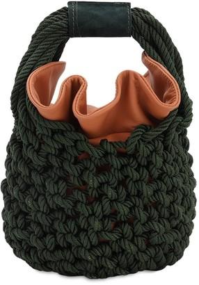 Johanna Ortiz Escucho El Pacifico Ruby Knit Bucket Bag