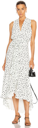 Silvia Tcherassi Nini Dress in White & Black Spatter Dot | FWRD
