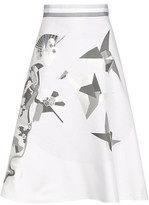 Thom Browne Silk-Jacquard Skirt