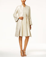 B Michael Metallic Bell-Sleeve Topper Evening Jacket