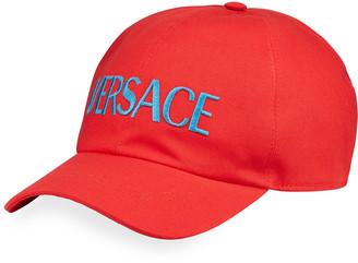 Versace Men's Large Logo Baseball Hat
