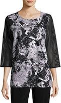 Caroline Rose Moonstruck Mesh-Sleeve Tunic, Plus Size