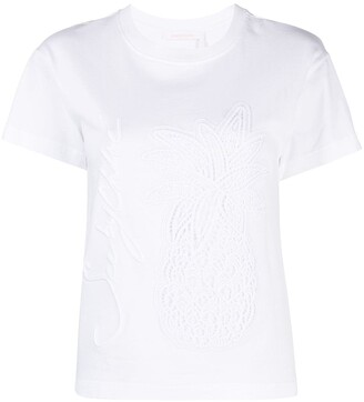 See by Chloe embroidered short-sleeved T-shirt