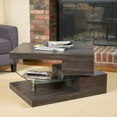 Christopher Knight Home Michael Rectangular Rotating Wood Coffee Table