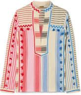 Dodo Bar Or - Tasseled Striped Cotton-gauze Shirt - Pink