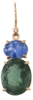 Irene Neuwirth Sapphire and Tourmaline Oval Earring