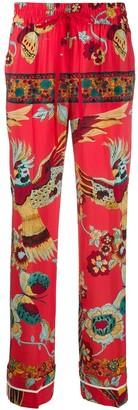 RED Valentino Bird of Paradise straight-leg trousers