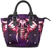 Sunlome Trippy Elephant Pattern Women's Leather Tote Shoulder Bags Handbags