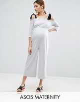 Asos Jersey Jumpsuit with Grossgrain Tie