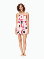 Kate Spade Double strap charmeuse chemise
