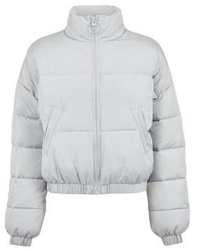 Dorothy Perkins Womens Lola Skye Grey Crop Puffer Jacket, Grey