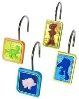 Disney Best Cute Small Pixar Toy Story Multi-Colored Shower Curtain Hook, Set of 12 Funny Stocking Stuffer Unique Present Idea Child Kid Boy Girl Daughter Son Friend Assortment Top Cool Crazy Popular