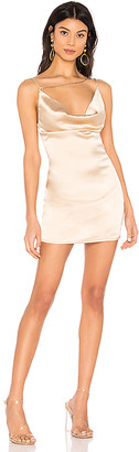 superdown Zahra Asymmetrical Cowl Dress