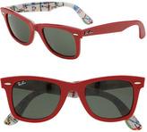 'Classic Wayfarer' 50mm Sunglasses