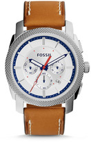 Fossil Machine Chronograph Tan Leather Watch