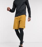 Nike Training Tall flex shorts in wheat