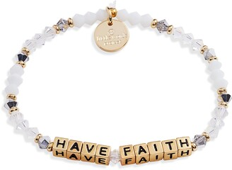 Little Words Project Have Faith Beaded Stretch Bracelet