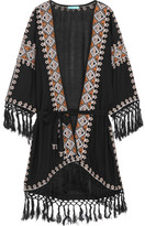 Melissa Odabash Nic Embroidered Voile Robe - Black