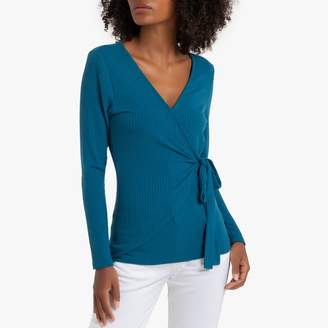 La Redoute Collections Long-Sleeved Wrapover T-Shirt