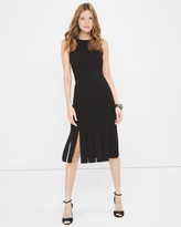 White House Black Market Black Crew Neck Midi Dress